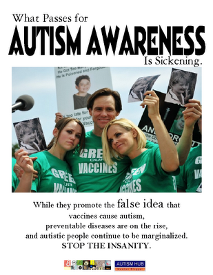 Update to Jenny McCarthy's Body Count. April is Autism Awareness month.