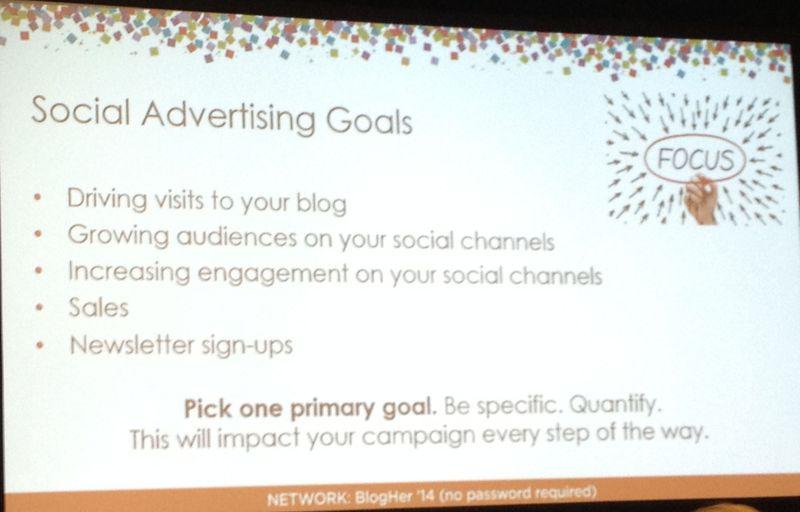 Social Advertising Goals