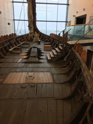 Viking ship view from stern