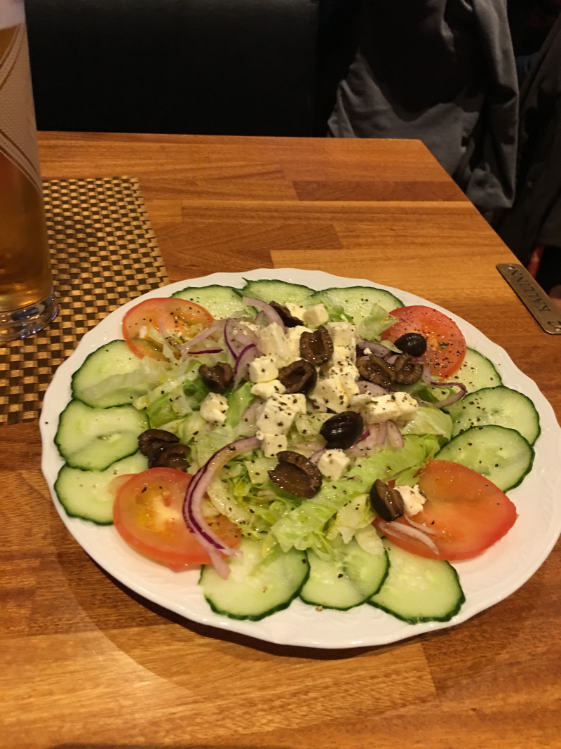 Dinner greek salad