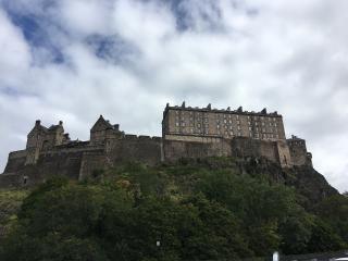 Edinburg castle view from below Princes 2