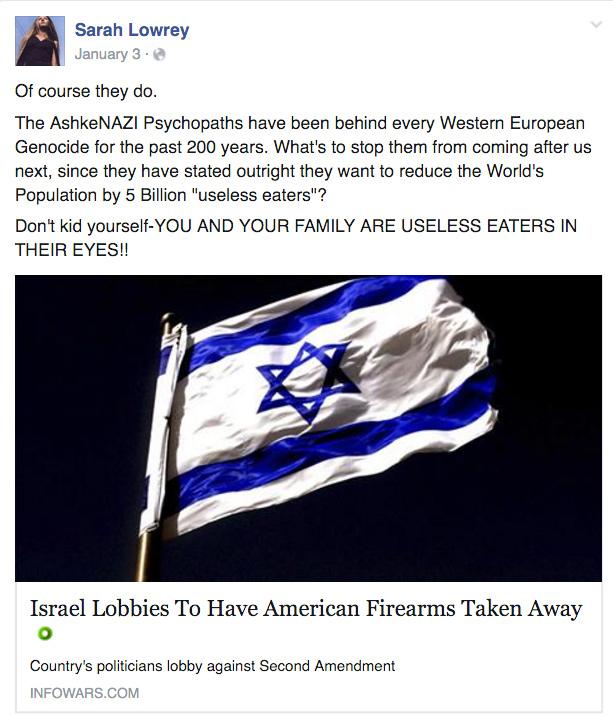 Sarah-Lowrey-anti-semite
