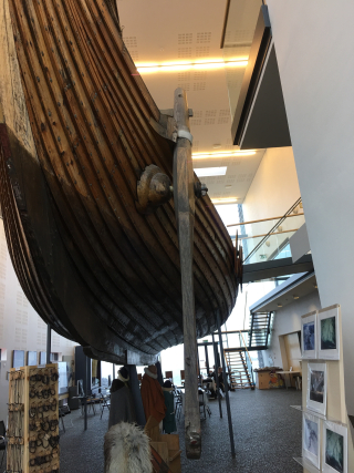 Viking ship view from below rudder 1