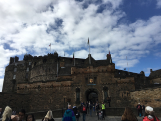 Edinburg Castle Entry gate view