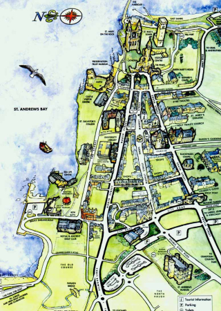 St-Andrews-Scotland-Tourist-Map