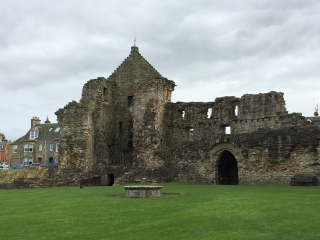 Interior view castle w sally port to right