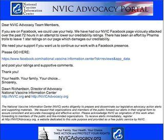 NVIC advocacy