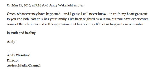 Andy Wakefield Autism Blighted