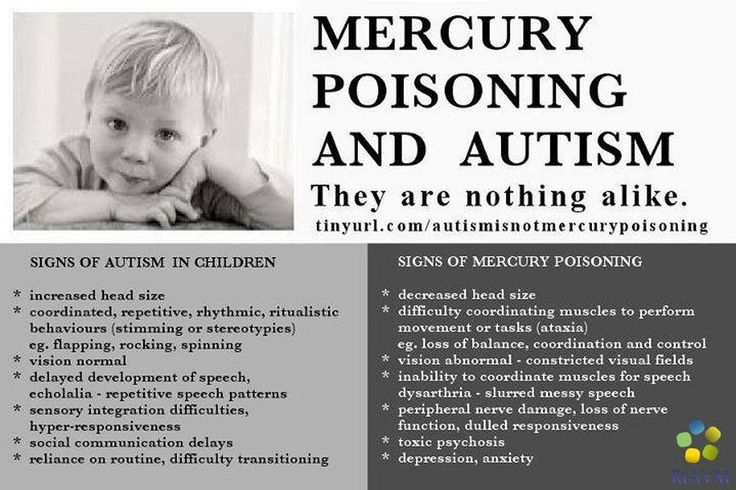 Mercury poisoning and autism