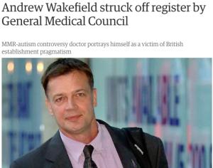 Andrew Wakefield struck off