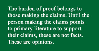 Burden of proof facts