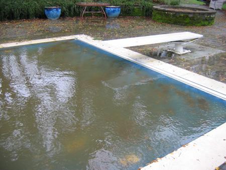 pool overflowing